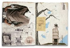 AWESOME journaling. Lots of writing and collage.