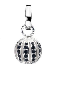 Virtue 'Cage' jet crystal drop charm. Spherical bead encrusted with jet black crystals. £43 inc standard UK delivery from Kalila Blue. VSD076