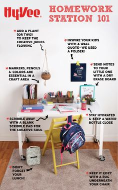 Organize your school supplies at home with an easy homework station. Keep all yo. Organize your sc Homework Desk, Homework Organization, Kids Homework, Homework Station, College School Supplies, Education College, Life Hacks For School, Toy Storage, Storage Ideas