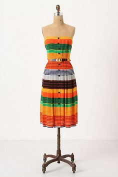 Striped Stripes Dress #anthropologie