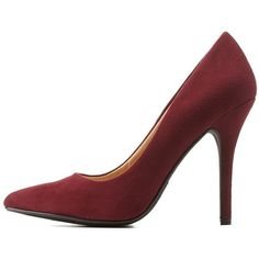 Charlotte Russe Wine Pointed Toe Stiletto Pumps by Charlotte Russe at... ($31) ❤ liked on Polyvore featuring shoes, pumps, wine, charlotte russe shoes, pointy-toe pumps, charlotte russe, pointed-toe pumps and heels stilettos