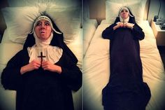 hes frikin awesome. Jo Kwon transforms into a terrifying nun for Halloween Kpop Halloween Costume, Playing Dress Up, Singer, Play Dress, Dresses, Creepy, Horror, Internet, Google Search