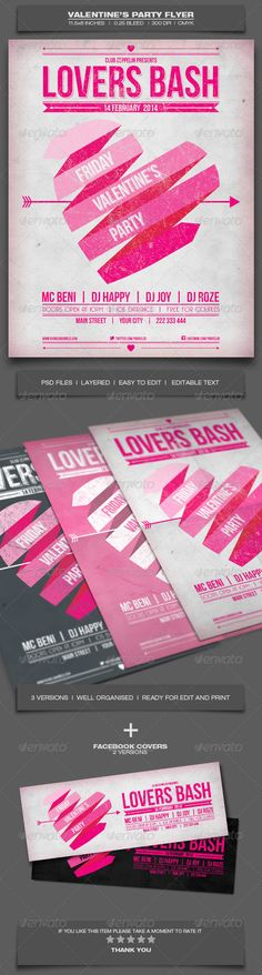 ValentineS Day Party  Event Flyer Template   Event Flyer