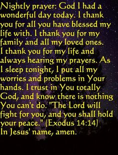 Nightly Prayer …