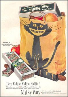 Milky Way Halloween 1954 Vintage Ad by OldTimeGraphics on Etsy, $9.99