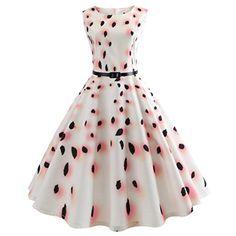 61d874e6736d Tsmile Clearance Summer Women Sleeveless Printing Bodycon Dress Hot Sale  Elegant Evening Party Prom Swing Dress