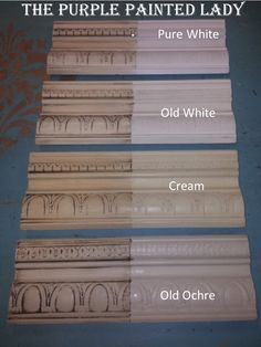 White differences The Purple Painted Lady Old Ochre Old White Pure White Cream 2