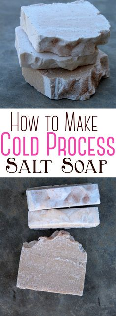 Salt soap bars are a wonderful way to combine a sea salt bath with a natural soap - believe it or not, the final result is a hard bar of soap with a creamy, lotion-like lather. #saltsoap #coldprocess #soap #homemadesoap #soapmaking #himalayanpinksalt #skincare #naturalsoap