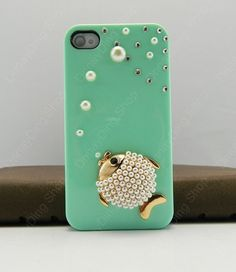 iPhone cover  fishy case  iPhone 4s case iPhone 4s case iPhone cover   14 color choices. $17.99, via Etsy.