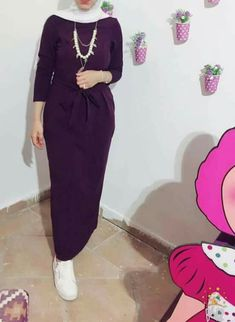 beautiful one 😉😙 Modern Hijab Fashion, Street Hijab Fashion, Hijab Fashion Inspiration, Islamic Fashion, Abaya Fashion, Muslim Fashion, Fashion Outfits, Hijab Evening Dress, Hijab Dress Party