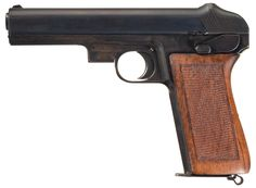 This is a very rare Mauser Nickl patent prototype semi-automatic pistol chambered in 11.25mm (.45ACP). It employs the Nickl-patented rotating, locked breech barrel design. The design was short-lived, with a very few examples produced in 9mm Luger and less in .45ACP. It was produced circa 1908-12 and predated the later Model 1915 pistol.