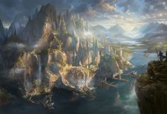 Based on the mythological city of  Atlantis, before it fell in to the…
