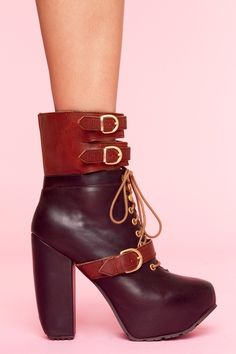 Andee Strapped Boot - Brown