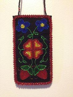 ojibwe floral beaded phone case 2013- Jessica gokey
