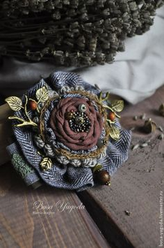 Beautiful Fabric Brooch