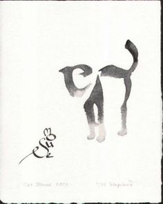 I really like this image, because at a first glance it is simply just a cat and mouse facing each other. However, once you take a closer look you can see that within the body of the mouse the letters to spell out mouse are there and the same goes for the cat. It's a cool way to display animals!