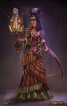 Official Smite Kali Gold Skin by PTimm on DeviantArt Fantasy Character Design, Character Design Inspiration, Character Art, Character Concept, Fantasy World, Dark Fantasy, Fantasy Art, Witchy Wallpaper, Gold Skin