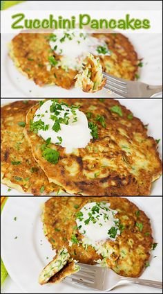 Zucchini Pancakes are a delicious side dish. Skinny Recipes, Diet Recipes, Vegetarian Recipes, Cooking Recipes, Healthy Recipes, What's Cooking, Fruit Recipes, Recipies, Healthy Appetizers