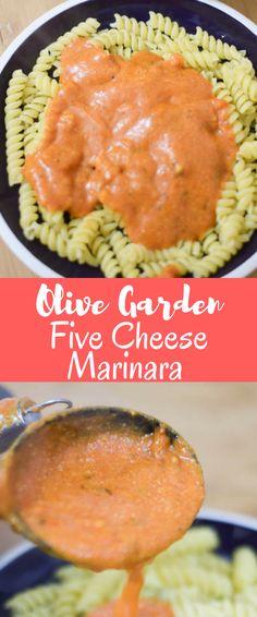 Olive Garden five cheese marinara copycat recipe #olivegardenrecipes