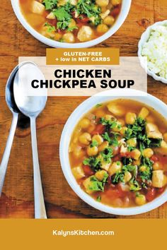 Best Soup Recipes, Chili Recipes, Great Recipes, Keto Recipes, Snack Recipes, Chicken Chickpea, Chickpea Soup, Slow Cooker Soup, Slow Cooker Recipes