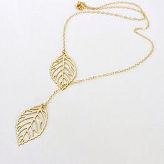 Hojas de oro Collares de la borla – CLP $ 1.478