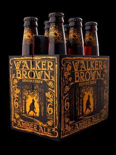 Walker Brown Amber ale. Beer packaging design by Stranger & Stranger - featured on The Dieline