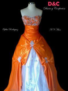 Vestido XV años hecho por Ofelia Rodriguez.