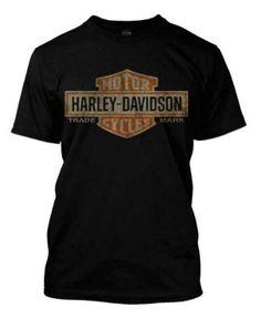 Amazon.com: Harley-Davidson Men's Distressed Elongated Bar & Shield Black T-Shirt 30296553: Harley-Davidson: Clothing