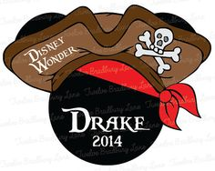 DIY Printable Pirate Disney Iron On Transfer, Mickey Pirate, digital download Personalized, Disney Cruise shirt, Pirate Night shirts, Family...