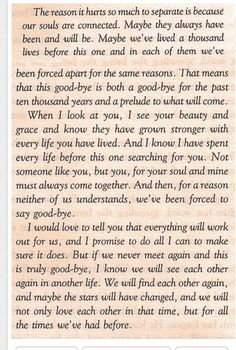 This is such a sweetly gut-wrenching letter of absolute true love fighting to be together...time after time. Love it!!