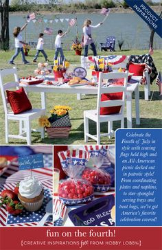 Celebrate the Fourth of July in style with waving flags held high and an All-American picnic decked out in patrotic style!