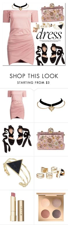 """So Pretty: Dreamy Dresses"" by oshint ❤ liked on Polyvore featuring Dolce&Gabbana and Stila"