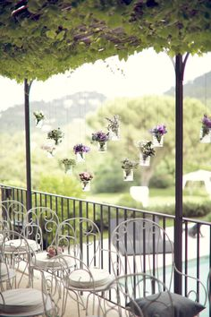 Love these hanging flowers