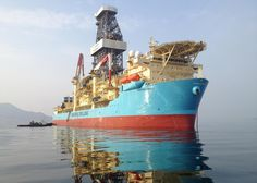 thewelovemachinesposts:  Maersk Viking, Ultra Deepwater Drillship Source: https://imgur.com/BwhzpGk