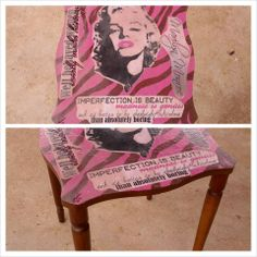 ~ Marilyn ~ Re- Vamped Vintage Artistic Area Table ... https://www.facebook.com/Artsy.Me.by.L.Marie