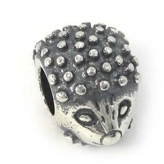 """4cb642f1c Sterling Silver """" Hedgehog Threaded Core """" Charm Bead Compatible with  Pandora Chamilia Kay Troll Bracele Sterling Silver """" Hedgehog Threaded Core  """" Charm ..."""
