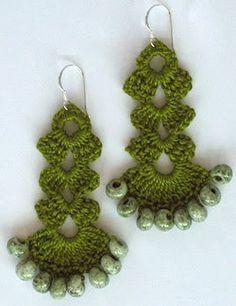 tutorial crochet earrings