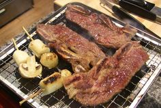 "Korean beef barbecue (""LA Galbi"": 갈비)"