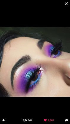 Image about blue in Makeup Looks 💄 by ChannieBby is part of eye-makeup - Shared by ChannieBby Find images and videos about blue, makeup and purple on We Heart It the app to get lost in what you love Rave Makeup, Glam Makeup, Skin Makeup, Makeup Inspo, Eyeshadow Makeup, Makeup Art, Makeup Inspiration, Beauty Makeup, Fairy Makeup