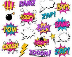 Burbujas de superhéroe cómico gráfico libro Clip arte cómic