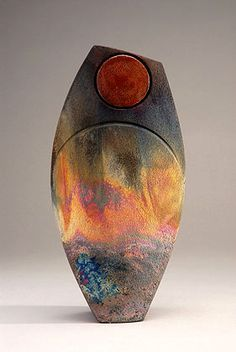 Ceramics by Shaun Hall at Studiopottery.co.uk - 2007 Copper matt fumed Aurora vase