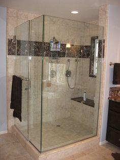 Home Remodeling Tools White Bathroom Tiles, Bathroom Flooring, Master Bathroom, Spa Shower, Shower Drain, Bathroom Renovations, Home Remodeling, Shower Units, New Toilet
