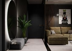 "Apartment in Kharkiv ZHK ""Dom na Sokol'nikakh"" - Dezign Ark (Beta) Home Room Design, Dream Home Design, Loft Design, Bathroom Design Luxury, Modern Bathroom Design, Elephant Home Decor, Living Room Tv Unit Designs, Cool House Designs, Modern Room"