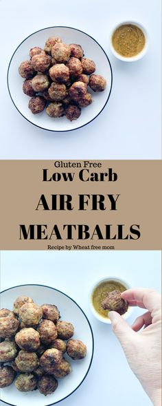 Low Carb Gluten Free Air Fry Meatballs Meatballs Recipe Fried, Gluten Free Meatballs, Gluten Free Baking, Gluten Free Recipes, Low Carb Recipes, Meatball Recipes, How To Dry Oregano, Healthy Alternatives, Fries