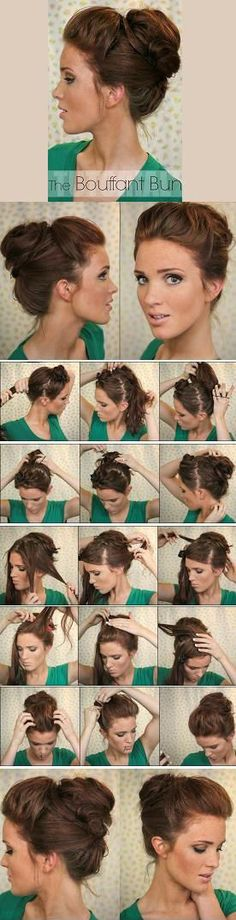 The Bouffant Bun #hair #style #tutorial