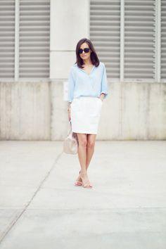 blue + white
