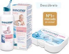 Rhinomer Baby. ¿Para qué sirve Rhinomer Baby?  Para la higiene diaria de tu bebé y la prevención de infecciones. Limpia y humedece las fosas nasales de tu bebé y protege contra el resfriado, la rinofaringitis y otras complicaciones. En casos de mucosidad, resfriados y congestión nasal. Ayuda a reblandecer la mucosidad y facilita el uso de un aspirador nasal. Además, previene la aparición de infecciones como otitis o bronquitis.