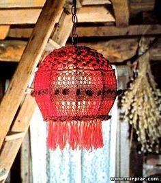 Manualidades para la casa lámparas de crochet, las más originales... 4