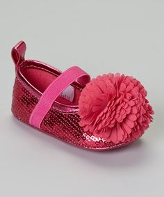 Another great find on #zulily! Stepping Stones Pink Sequin Flower Flat by Stepping Stones #zulilyfinds