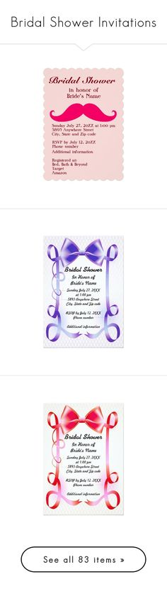 """""""Bridal Shower Invitations"""" by sandyspider ❤ liked on Polyvore featuring home, home decor, stationery, custom, red home accessories, red home decor, abstract home decor, rustic home accessories, autumn home decor and rustic home decor"""